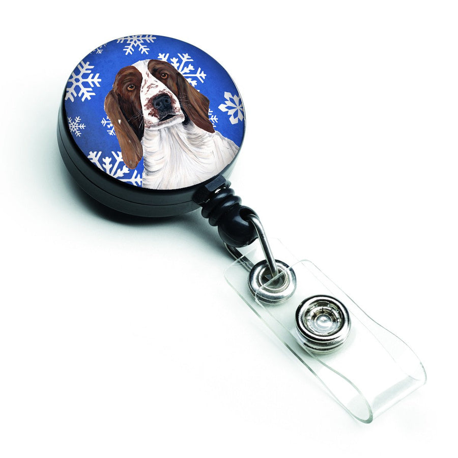 Buy this Welsh Springer Spaniel Winter Snowflakes Holiday Retractable Badge Reel SC9380BR