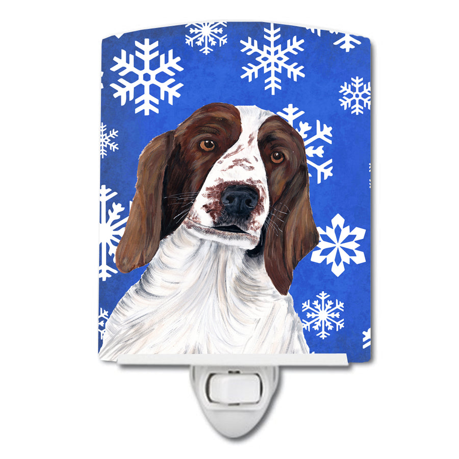 Buy this Welsh Springer Spaniel Winter Snowflakes Holiday Ceramic Night Light SC9380CNL