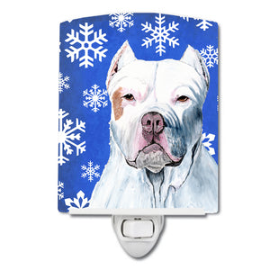 Buy this Pit Bull Winter Snowflakes Holiday Ceramic Night Light SC9381CNL