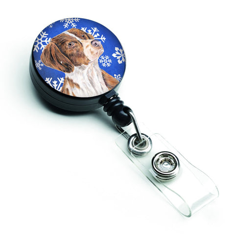 Buy this Brittany Winter Snowflakes Holiday Retractable Badge Reel SC9389BR