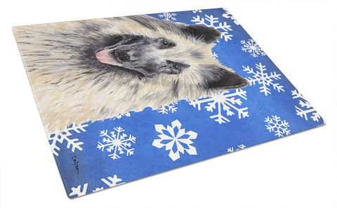 Buy this Belgian Tervuren Winter Snowflakes Holiday Glass Cutting Board Large