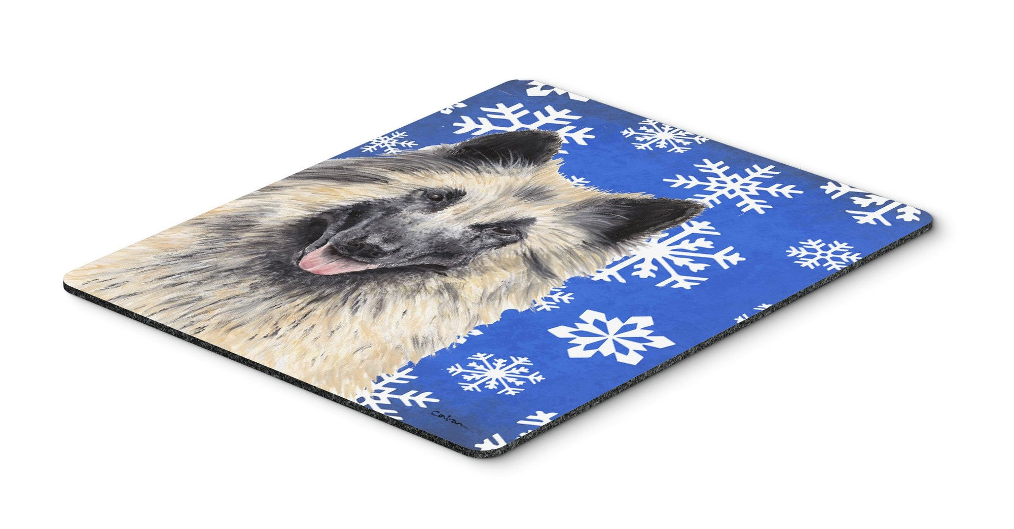 Belgian Tervuren Winter Snowflakes Holiday Mouse Pad, Hot Pad or Trivet by Caroline's Treasures