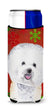 Bichon Frise Red and Green Snowflakes Holiday Christmas Ultra Beverage Insulators for slim cans SC9402MUK - the-store.com