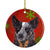 Australian Cattle Dog Red Snowflakes Holiday Christmas Ceramic Ornament SC9436 by Caroline's Treasures