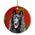Belgian Sheepdog Red Snowflakes Holiday Christmas Ceramic Ornament SC9438 by Caroline's Treasures