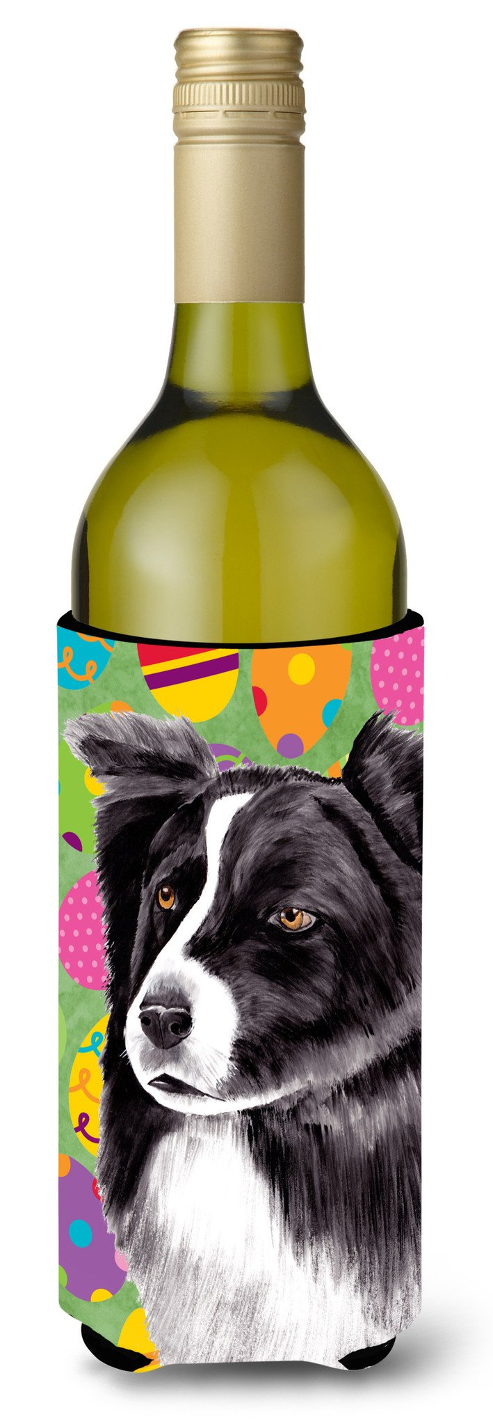 Border Collie Easter Eggtravaganza Wine Bottle Beverage Insulator Beverage Insulator Hugger by Caroline's Treasures