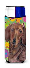 Dachshund Easter Eggtravaganza Ultra Beverage Insulators for slim cans SC9448MUK by Caroline's Treasures