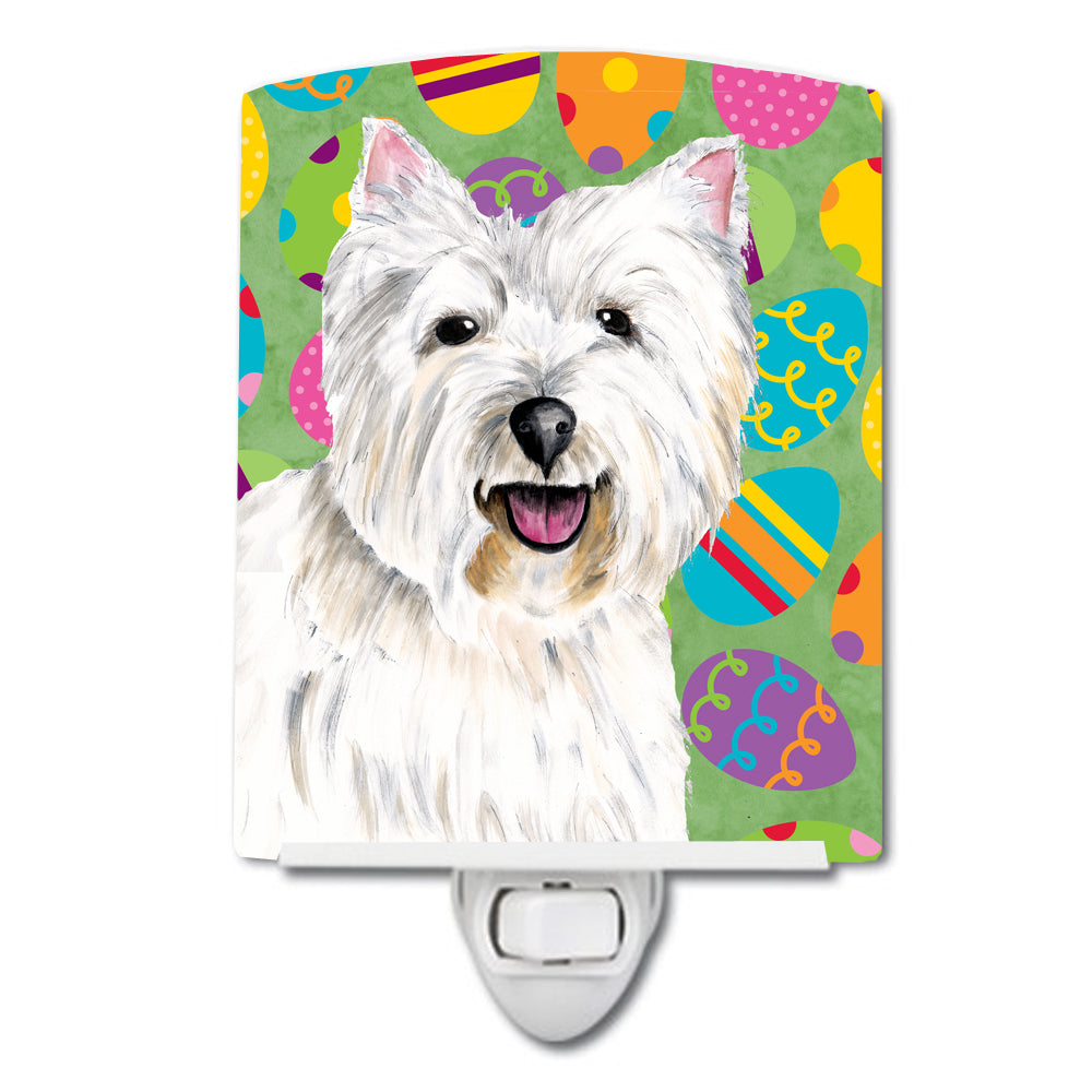 Westie Easter Eggtravaganza Ceramic Night Light SC9450CNL by Caroline's Treasures