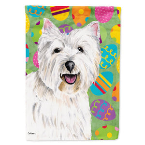 Buy this Westie Easter Eggtravaganza Flag Garden Size