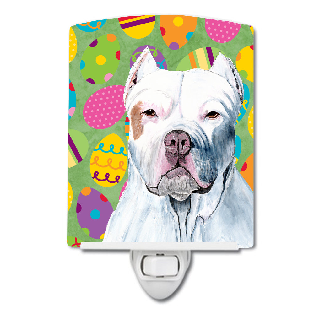 Pit Bull Easter Eggtravaganza Ceramic Night Light SC9461CNL by Caroline's Treasures