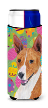 Basenji Easter Eggtravaganza Ultra Beverage Insulators for slim cans SC9467MUK by Caroline's Treasures