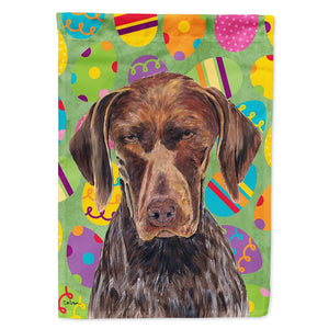 Buy this German Shorthaired Pointer Easter Eggtravaganza Flag Garden Size