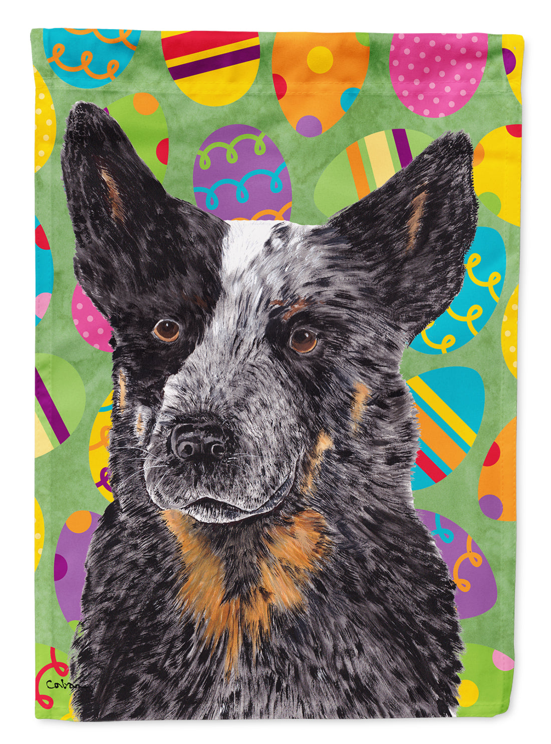 Buy this Australian Cattle Dog Easter Eggtravaganza Flag Garden Size