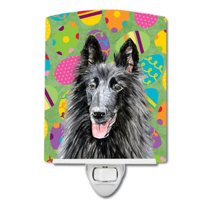 Buy this Belgian Sheepdog Easter Eggtravaganza Ceramic Night Light SC9478CNL