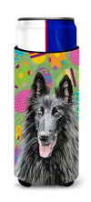 Belgian Sheepdog Easter Eggtravaganza Ultra Beverage Insulators for slim cans SC9478MUK by Caroline's Treasures