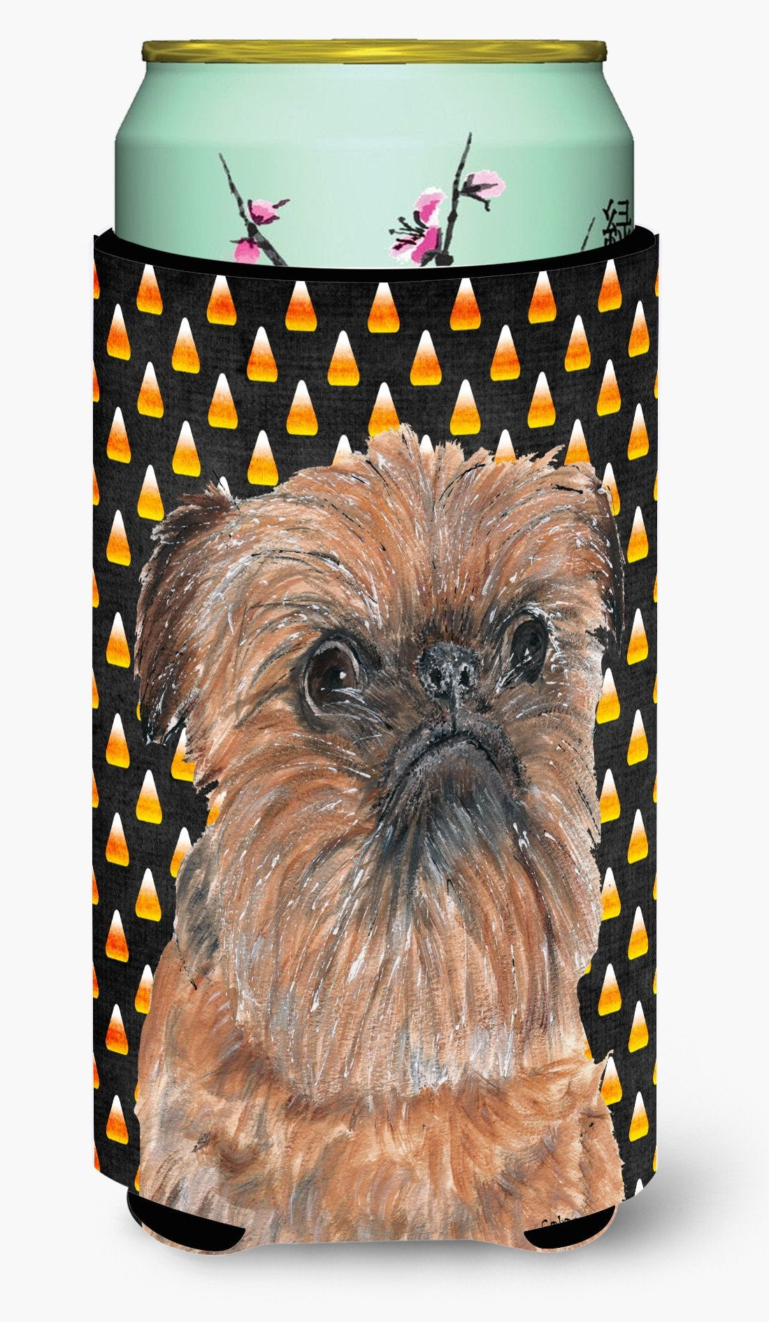 Brussels Griffon Halloween Candy Corn Tall Boy Beverage Insulator Beverage Insulator Hugger by Caroline's Treasures