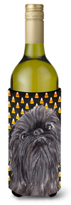 Buy this Brussels Griffon Halloween Candy Corn Wine Bottle Beverage Insulator Beverage Insulator Hugger