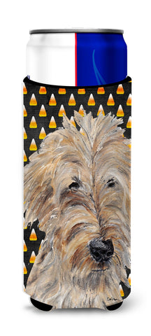Buy this Goldendoodle Halloween Candy Corn Ultra Beverage Insulators for slim cans