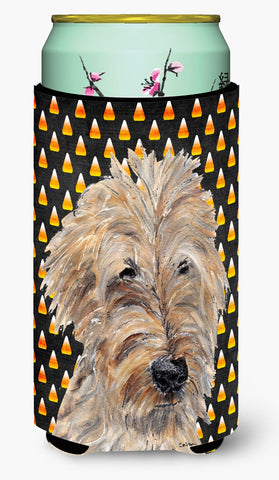 Buy this Goldendoodle Halloween Candy Corn Tall Boy Beverage Insulator Beverage Insulator Hugger