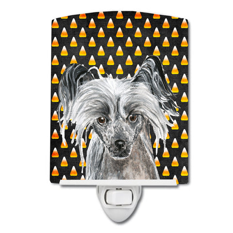 Buy this Chinese Crested Candy Corn Halloween Ceramic Night Light SC9536CNL