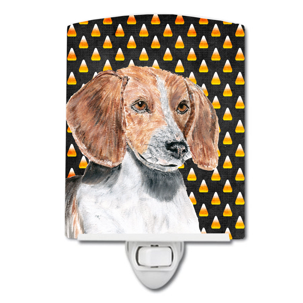 English Foxhound Candy Corn Halloween Ceramic Night Light SC9537CNL by Caroline's Treasures