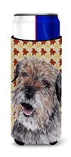 Border Terrier Fall Leaves Ultra Beverage Insulators for slim cans by Caroline's Treasures