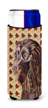 Boykin Spaniel Fall Leaves Ultra Beverage Insulators for slim cans by Caroline's Treasures