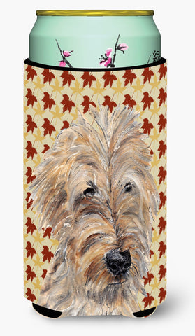 Buy this Goldendoodle Fall Leaves Tall Boy Beverage Insulator Beverage Insulator Hugger