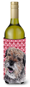 Buy this Border Terrier Valentine's Love Wine Bottle Beverage Insulator Beverage Insulator Hugger
