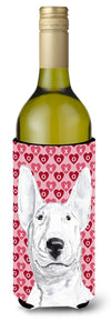Bull Terrier Valentine's Love Wine Bottle Beverage Insulator Beverage Insulator Hugger by Caroline's Treasures