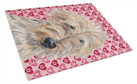 Buy this Goldendoodle Valentine's Love Glass Cutting Board Large