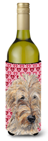 Buy this Goldendoodle Valentine's Love Wine Bottle Beverage Insulator Beverage Insulator Hugger