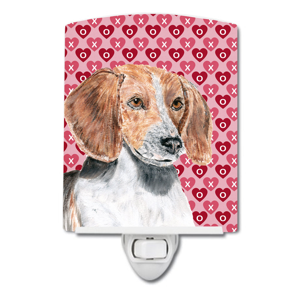 English Foxhound Hearts and Love Ceramic Night Light SC9565CNL by Caroline's Treasures