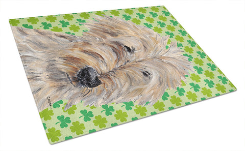 Buy this Goldendoodle St Patrick's Irish Glass Cutting Board Large