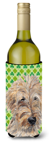 Buy this Goldendoodle St Patrick's Irish Wine Bottle Beverage Insulator Beverage Insulator Hugger