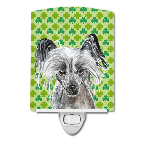 Buy this Chinese Crested Lucky Shamrock St. Patrick's Day Ceramic Night Light SC9578CNL