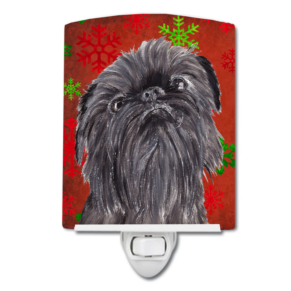 Brussels Griffon Red Snowflakes Holiday Ceramic Night Light SC9587CNL by Caroline's Treasures