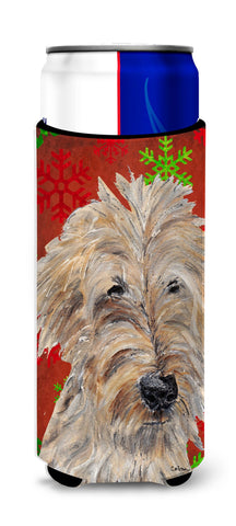 Buy this Goldendoodle Red Snowflake Christmas Ultra Beverage Insulators for slim cans