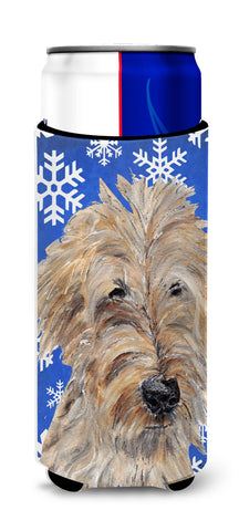 Buy this Goldendoodle Blue Snowflake Winter Ultra Beverage Insulators for slim cans