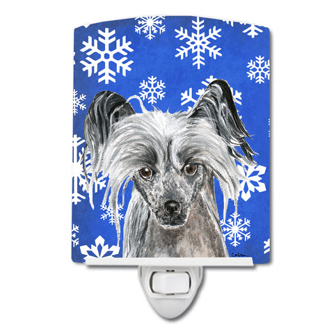 Buy this Chinese Crested Winter Snowflakes Ceramic Night Light SC9606CNL