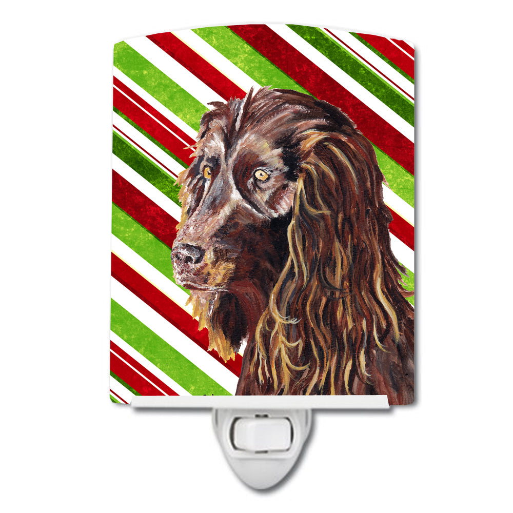 Buy this Boykin Spaniel Candy Cane Christmas Ceramic Night Light SC9616CNL