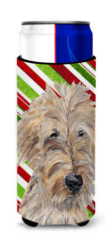 Buy this Goldendoodle Candy Cane Christmas Ultra Beverage Insulators for slim cans