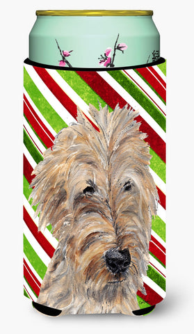 Buy this Goldendoodle Candy Cane Christmas Tall Boy Beverage Insulator Beverage Insulator Hugger
