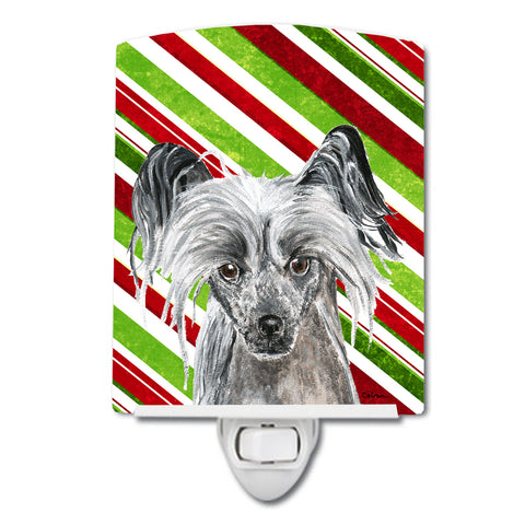 Buy this Chinese Crested Candy Cane Christmas Ceramic Night Light SC9620CNL