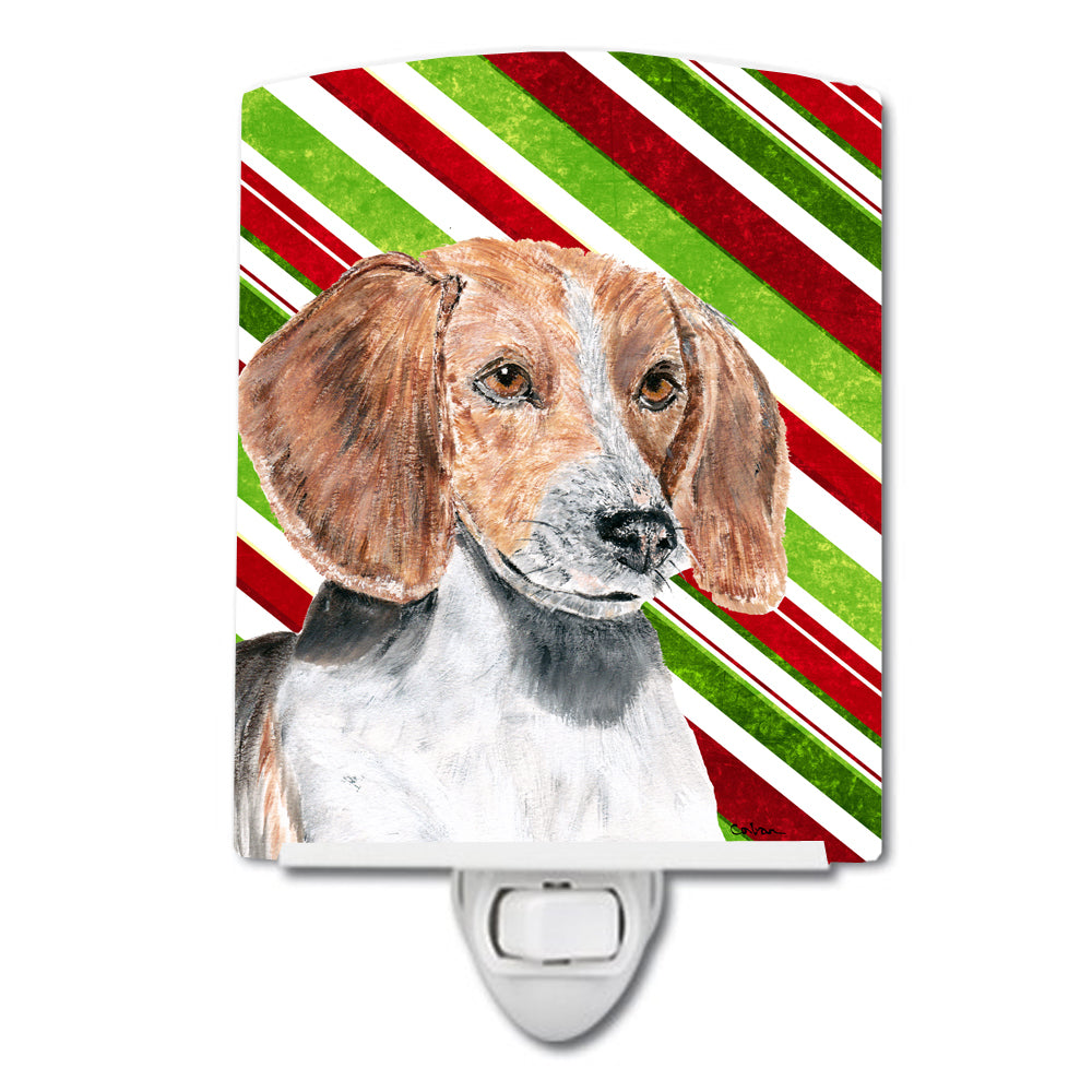 English Foxhound Candy Cane Christmas Ceramic Night Light SC9621CNL by Caroline's Treasures