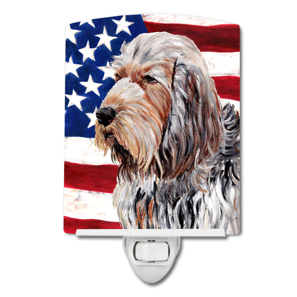 Buy this Otterhound with American Flag USA Ceramic Night Light SC9636CNL