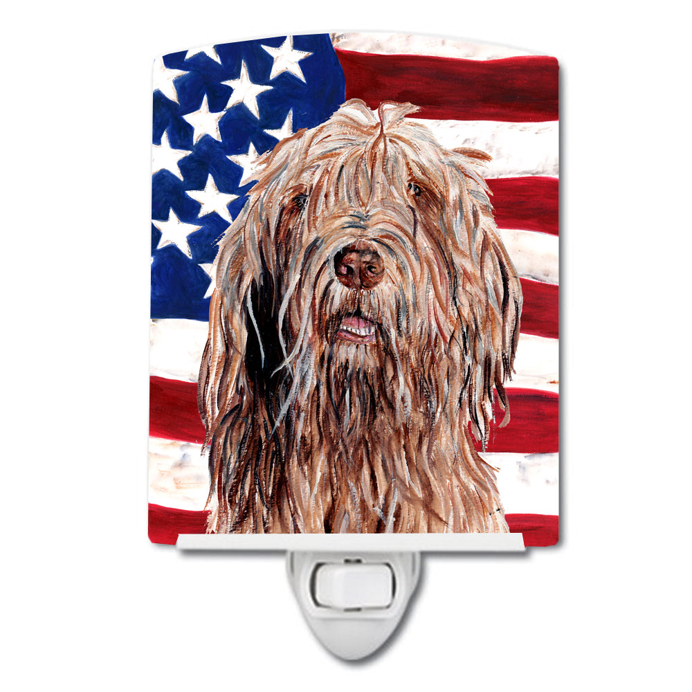 Buy this Otterhound with American Flag USA Ceramic Night Light SC9637CNL