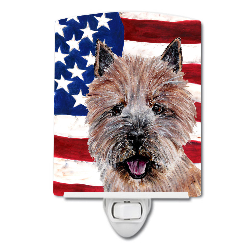 Buy this Norwich Terrier with American Flag USA Ceramic Night Light SC9638CNL