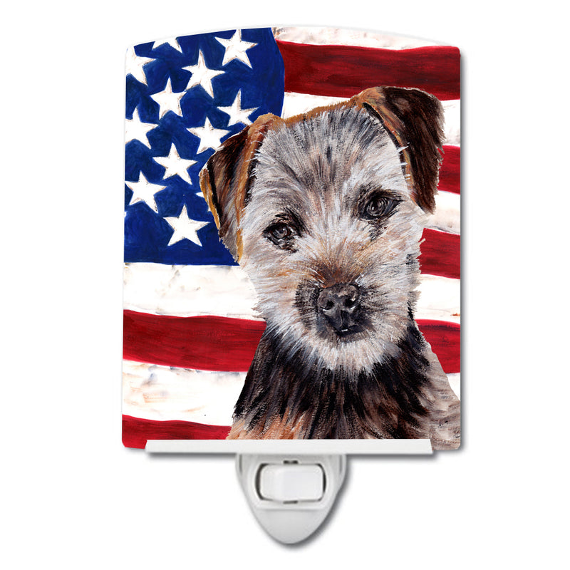 Buy this Norfolk Terrier Puppy with American Flag USA Ceramic Night Light SC9639CNL