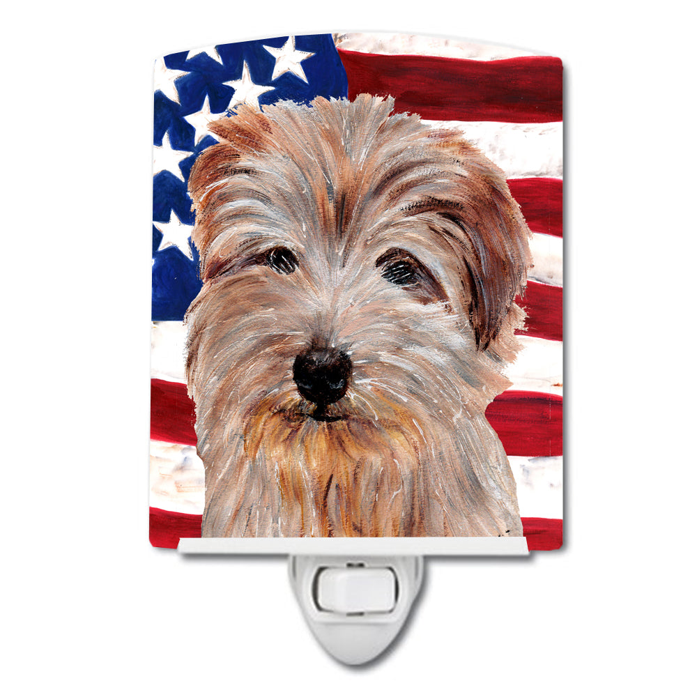 Buy this Norfolk Terrier with American Flag USA Ceramic Night Light SC9640CNL